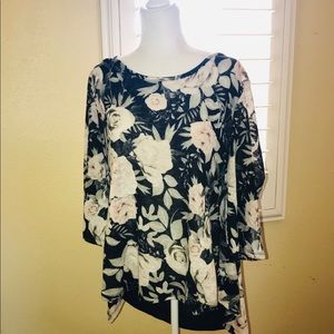 New York & Co. Bow Back Blouse w/ Flared Sleeves